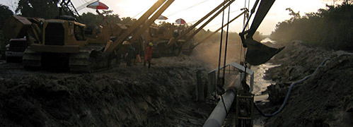 EPC2-B                       Nigeria: laying a 12 inch pipeline in a swamp                       environment